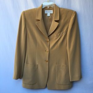 Jones New York Gold Silk Tailored Jacket Sz10
